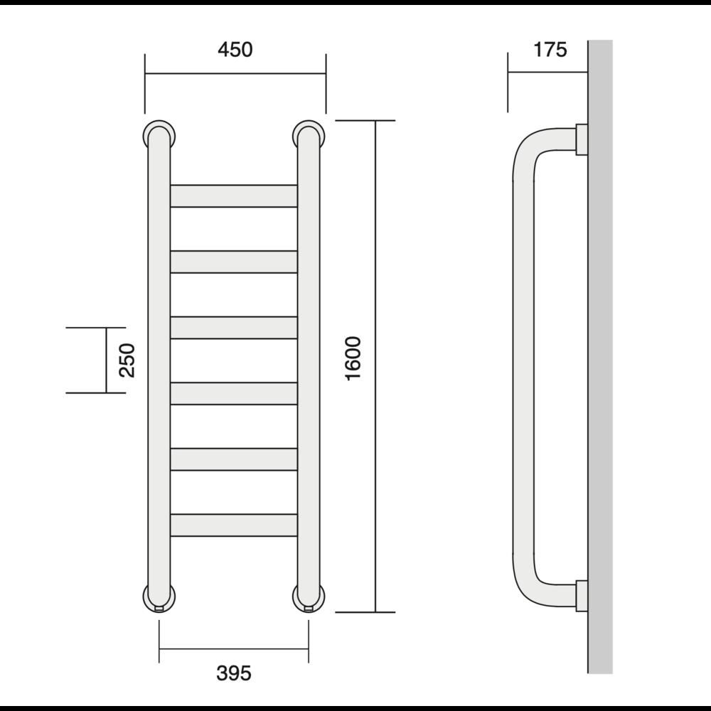 Bard & Brazier B&B Klassieke handdoekradiator St Leger SLW160/45 - 1056W