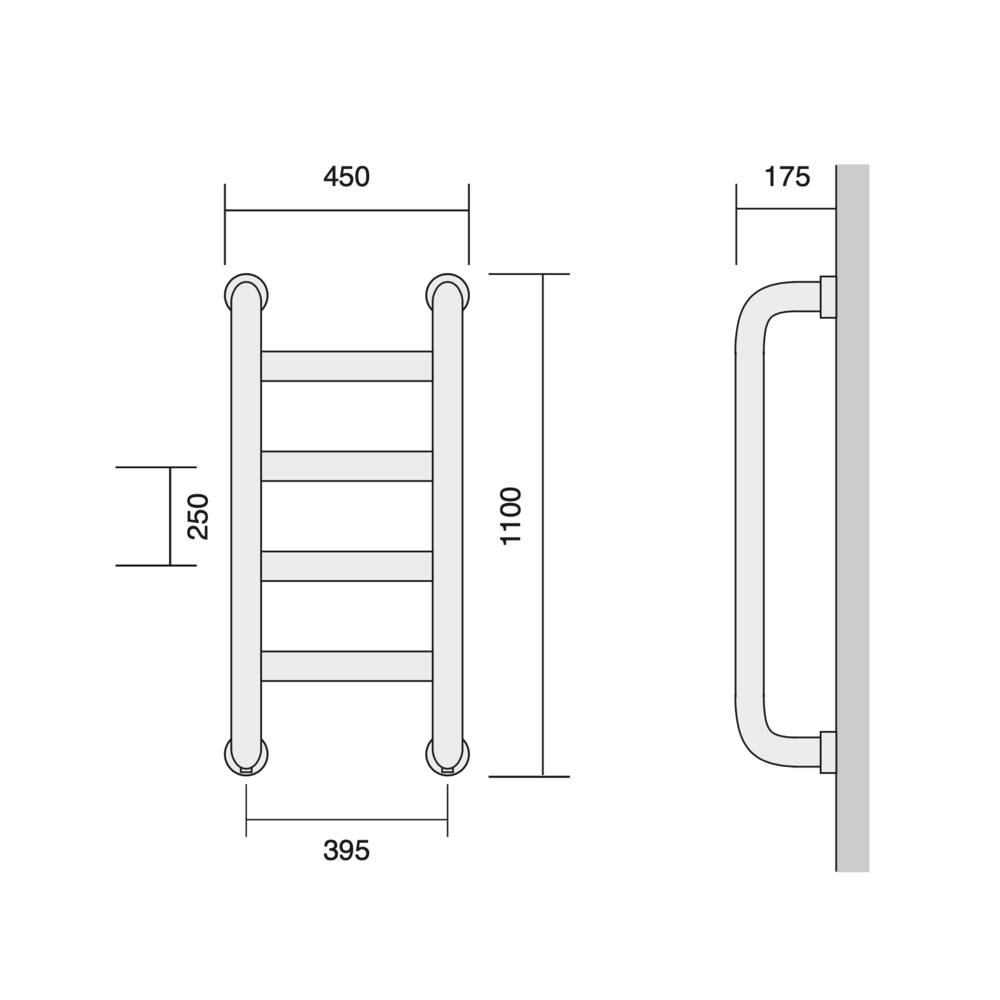 Bard & Brazier B&B Classical towel warmer St Leger SLW110/45 - 812W