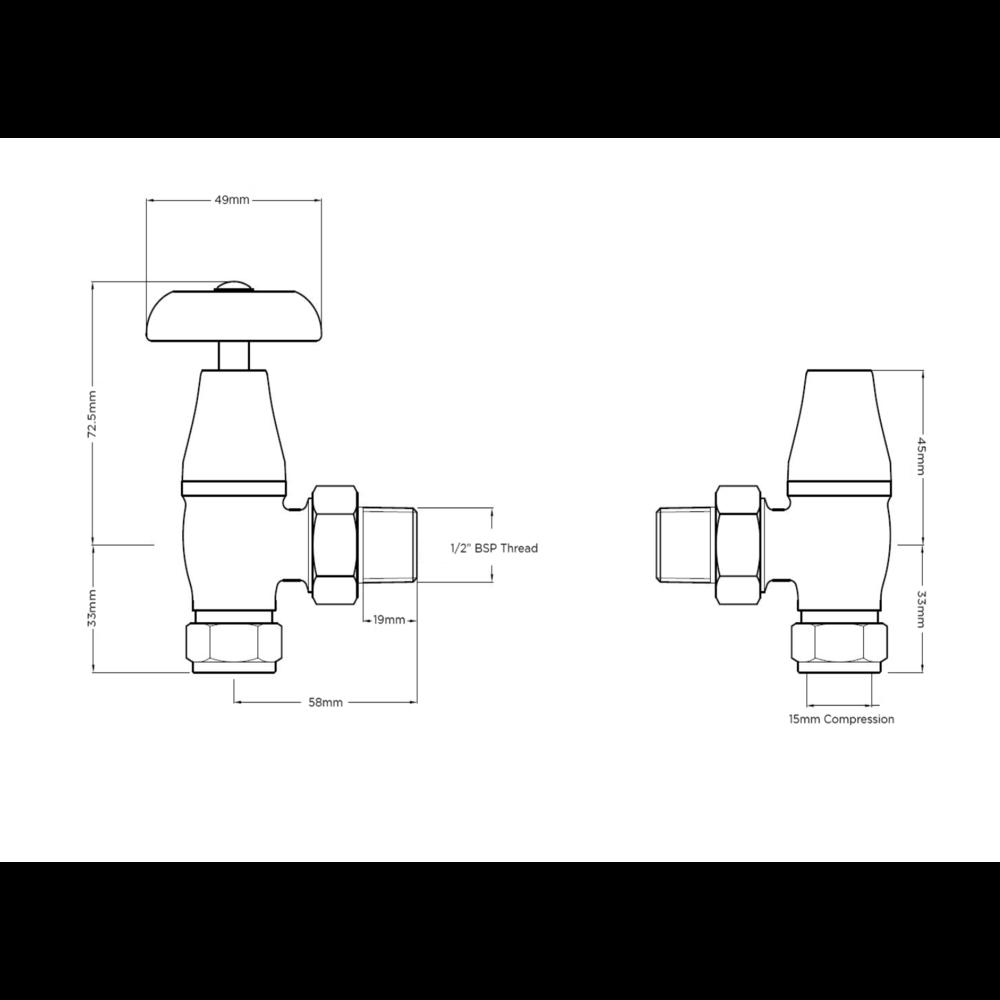 Arroll Manuele radiatorkraan UK-10