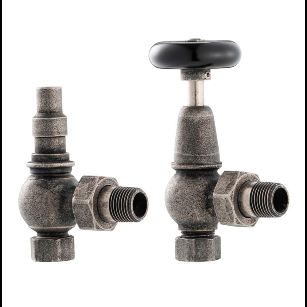 Arroll Manual radiator valve set with wooden wheel UK-20