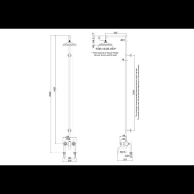 Tay Black thermostatic bath shower mixer 1