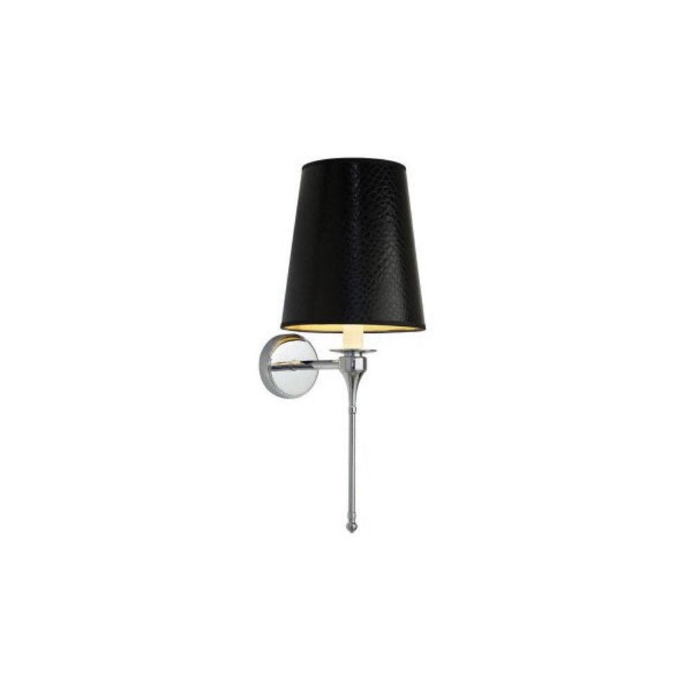 Imperial Imperial wandlamp met ledereffect kap Black Leather
