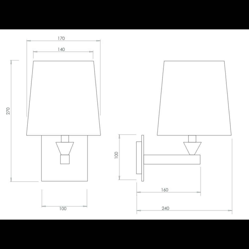 Imperial Imperial wandlamp Astoria plain black