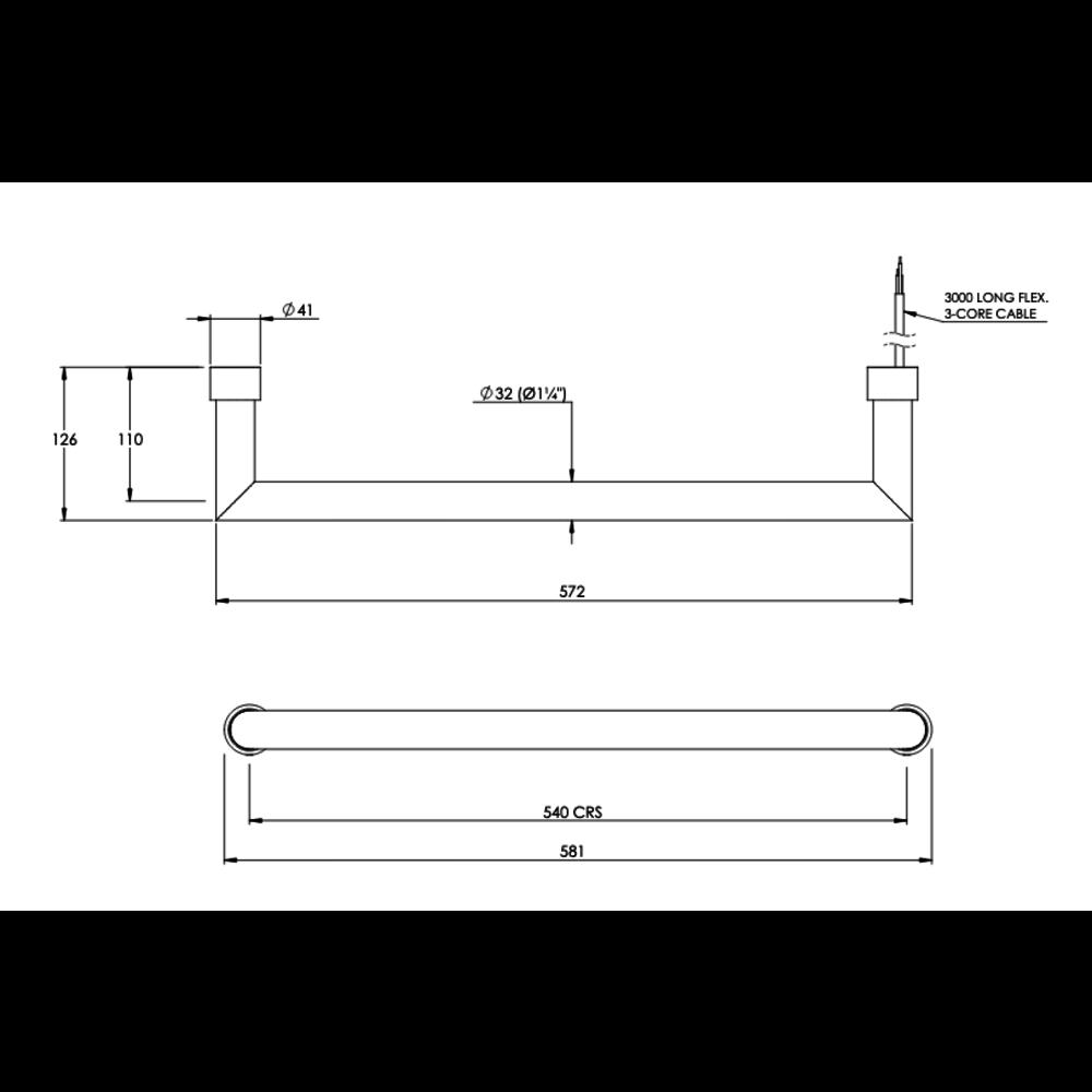 Bard & Brazier B&B Modern design floating rail D-Rail FDR2 - electric