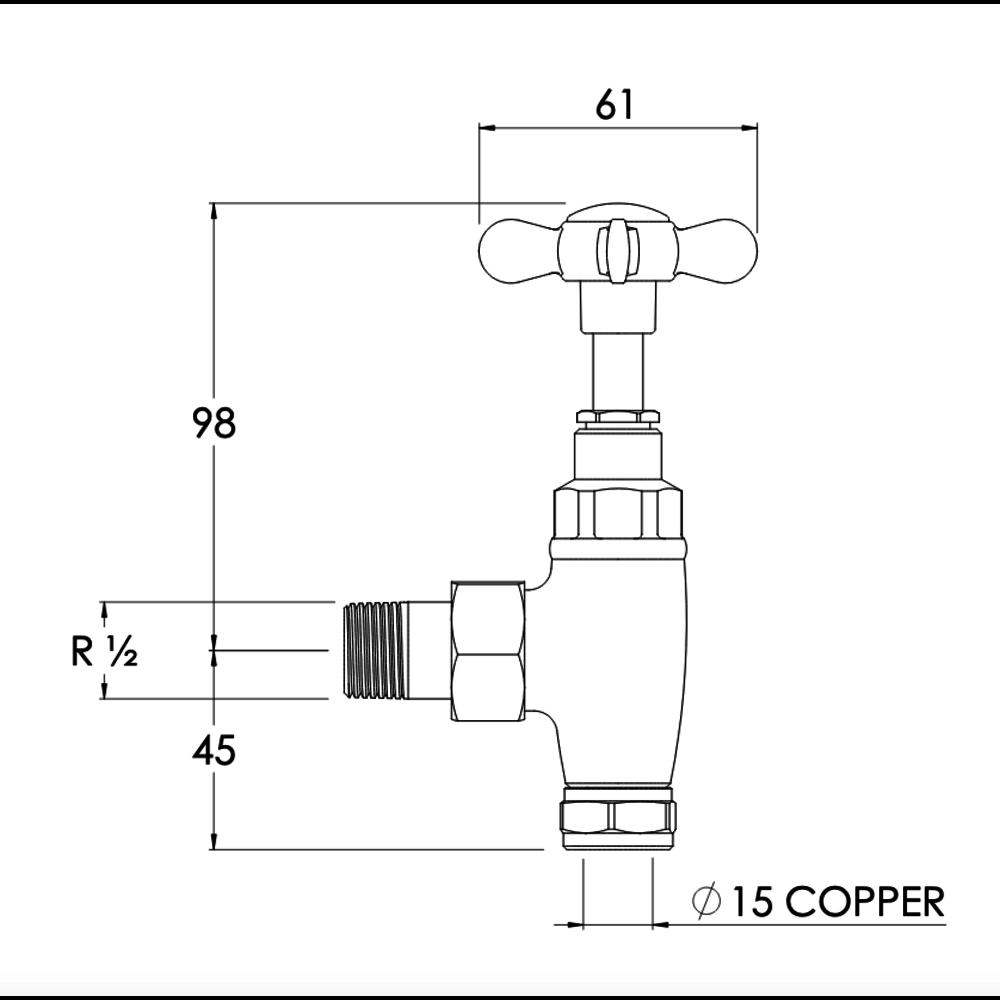 Lefroy Brooks LB Classic - Traditional radiator valves LB-1150