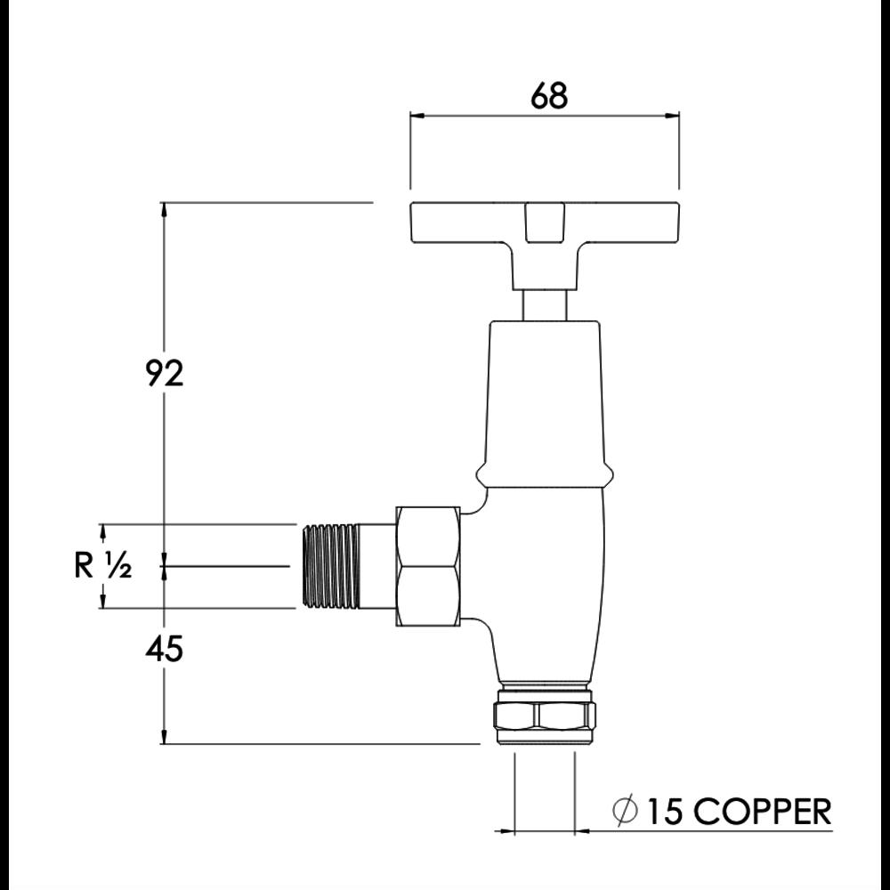 Lefroy Brooks LB Mackintosh - Traditional radiator valves MH-1150
