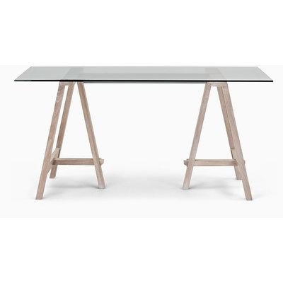 Hebden schragen tafel (Glass & Oak)