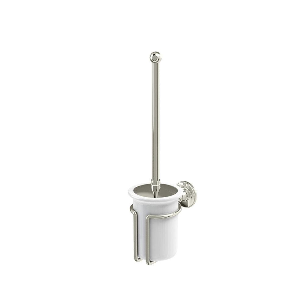 BB Edwardian Edwardian wall mounted WC Brush Holder from white porcelain