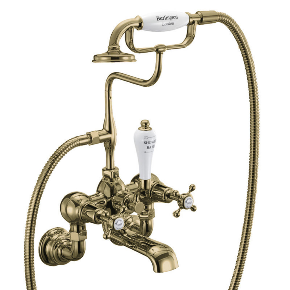 BB Edwardian Claremont bath shower mixer - wall mounted
