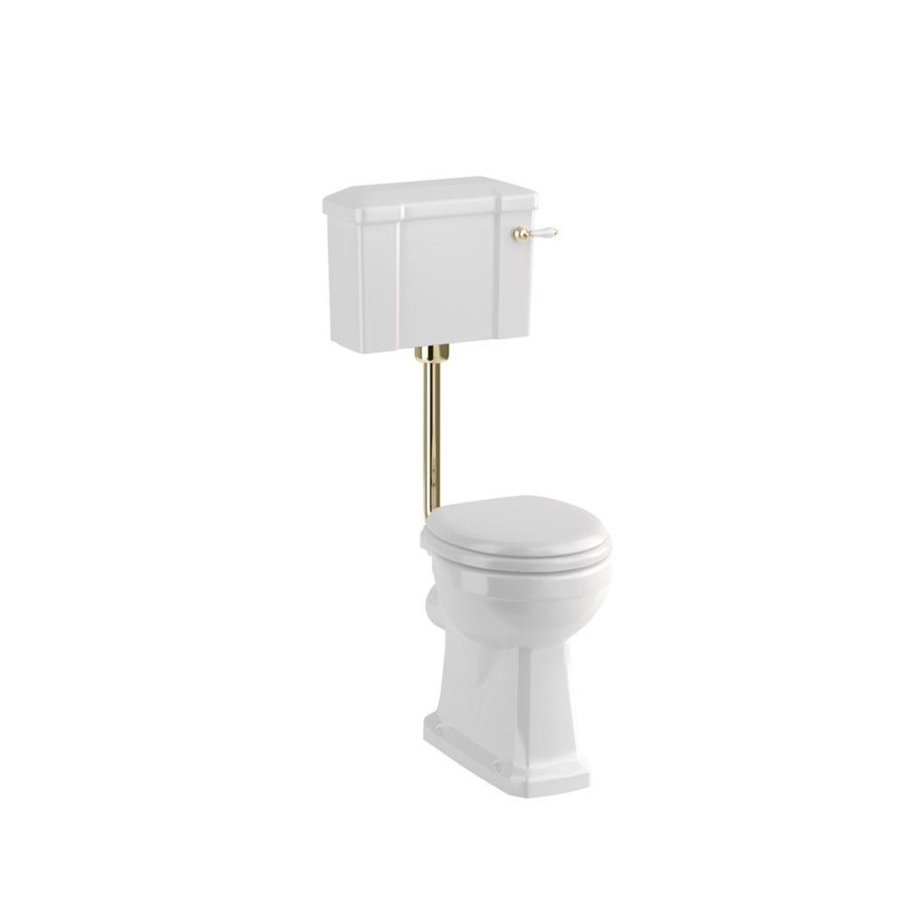 BB Edwardian Halfhoog toilet (PK) met porseleinen reservoir