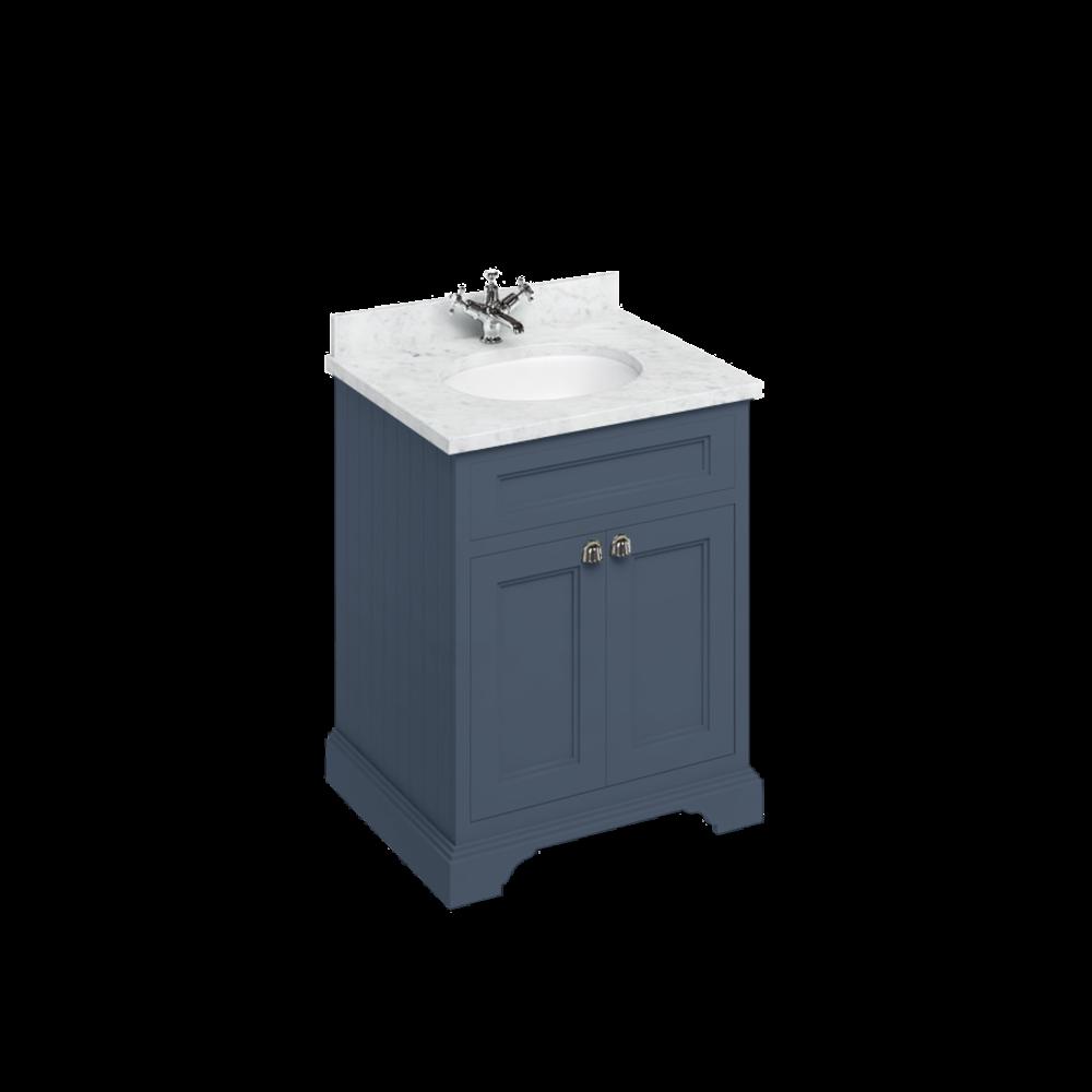 BB Edwardian 65 basin unit with Carrara Minerva top and basin FF8-BC66