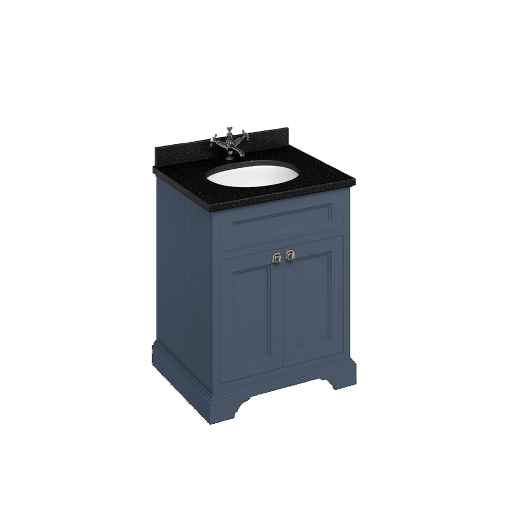 BB Edwardian 65 basin unit with Black Granite Minerva top and basin FF8-BB66