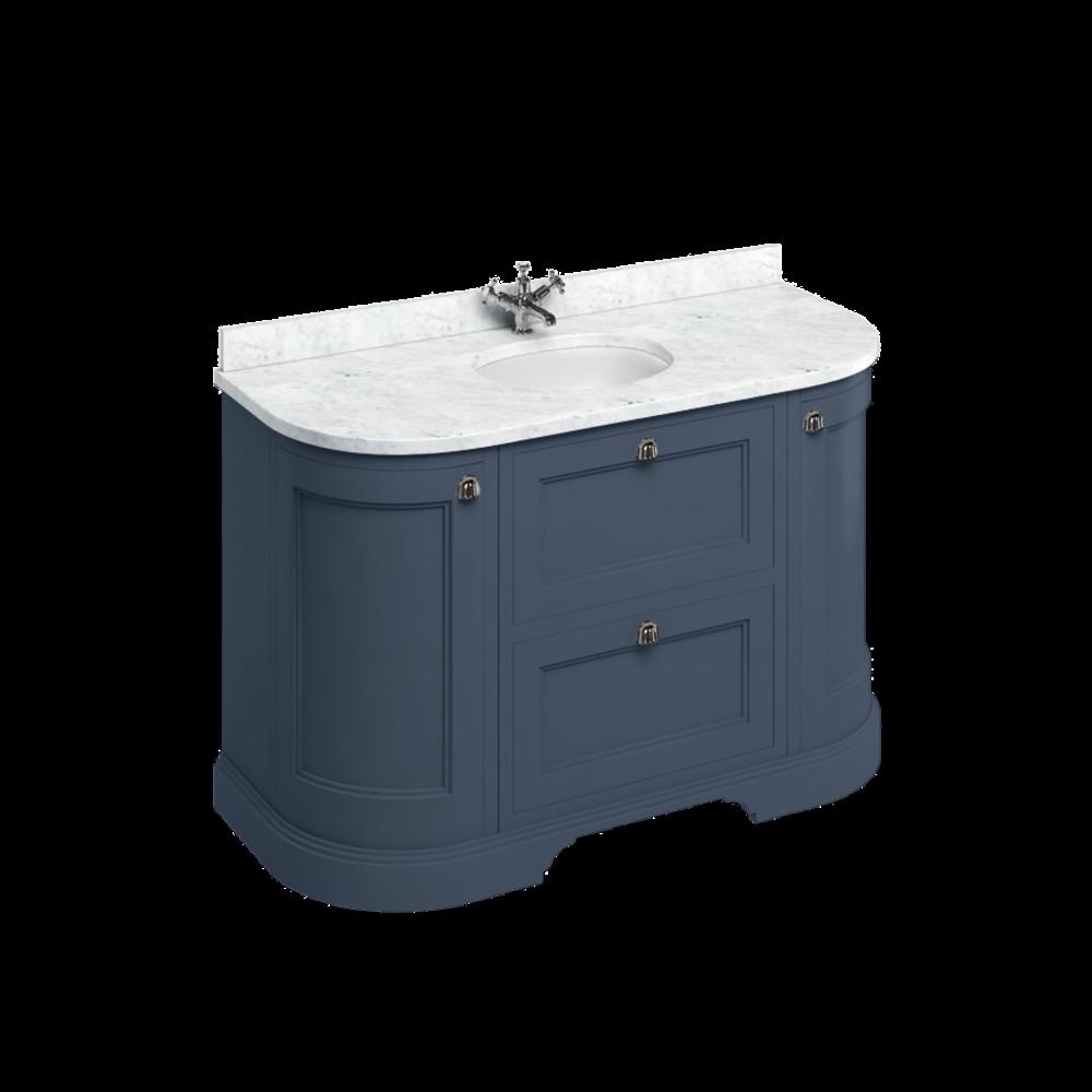 BB Edwardian 134 basin unit with Carrara white Minerva top and basin FC4-BC13