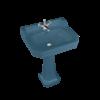 BB Edwardian Bespoke Edwardian Bespoke 62cm basin Alaska Blue with pedestal