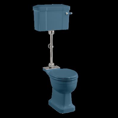 Medium level WC with ceramic cistern - Alaska Blue