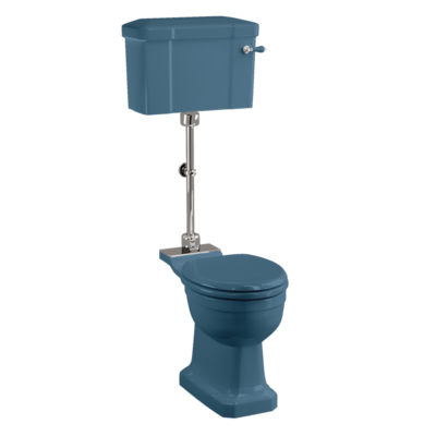 Medium toilet met porseleinen reservoir - Alaska Blue