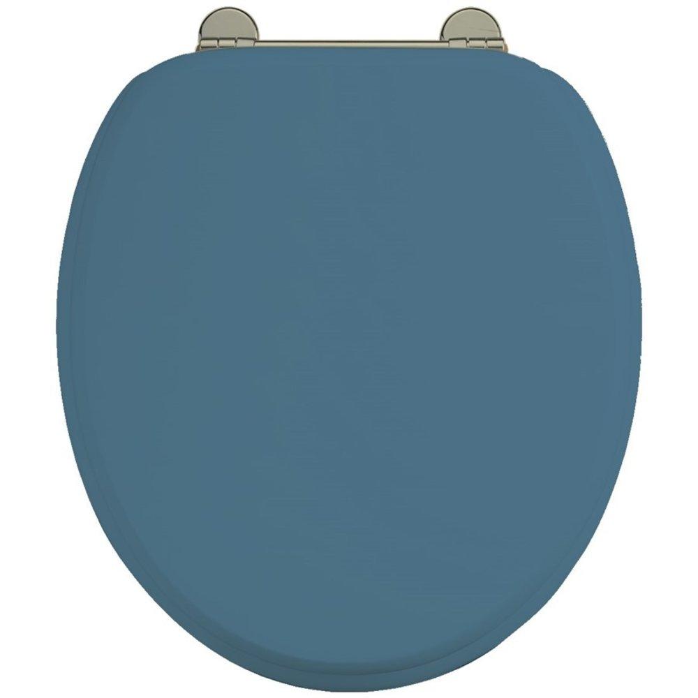 BB Edwardian Bespoke Toiletzitting softclose met 'Alaska Blue' finish