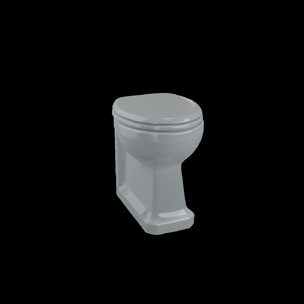 BB Edwardian Bespoke Staande toilet pot Moon Grey - tegen de muur te monteren