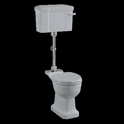 Medium level WC with ceramic cistern - Moon Grey
