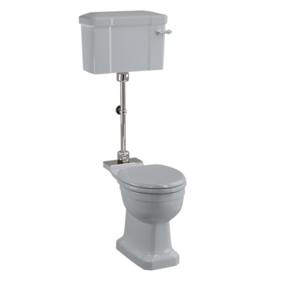 Medium-WC mit Keramikspülkasten  - Moon Grey