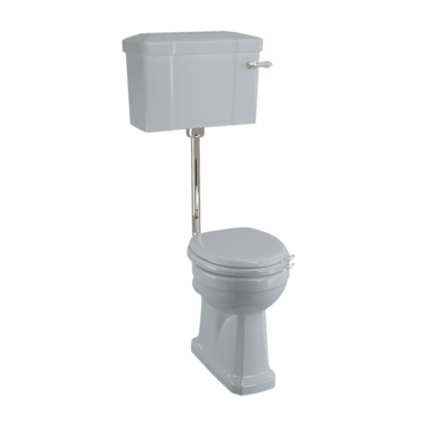 Halfhoog toilet met porseleinen reservoir  - Moon Grey