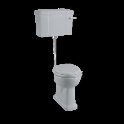 Low Level WC mit Keramikspülkasten - Moon Grey