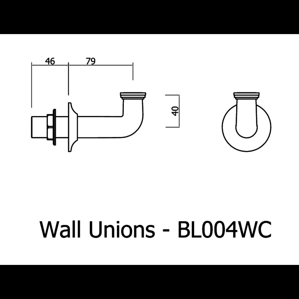 Belgravia Belgravia badmengkraan, kruisgrepen met handdouche, wandmontage BL422DC-BL004WC