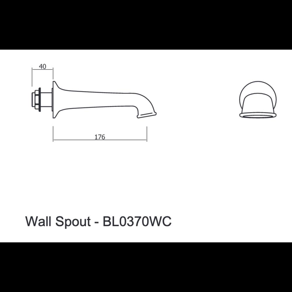 Belgravia Belgravia wall mounted bath spout 0370W