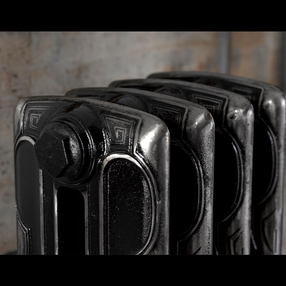 Arroll Gietijzeren radiator Art Deco - 869 mm hoog