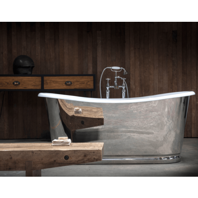 AR cast iron bath with stainless steel 'Lorraine'