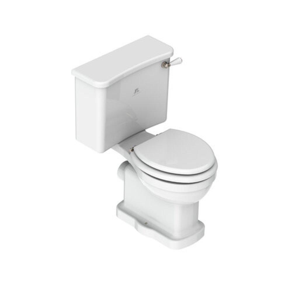 Lefroy Brooks 1910 La Chapelle LB La Chapelle Duoblok toilet met porseleinen hendel
