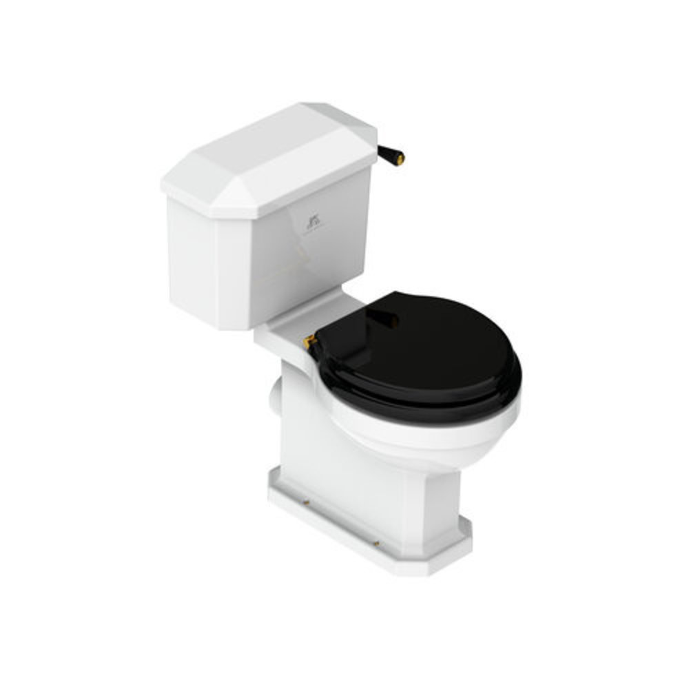 Lefroy Brooks 1900 Classic LB Classic Charterhouse Duoblok toilet met porseleinen hendel