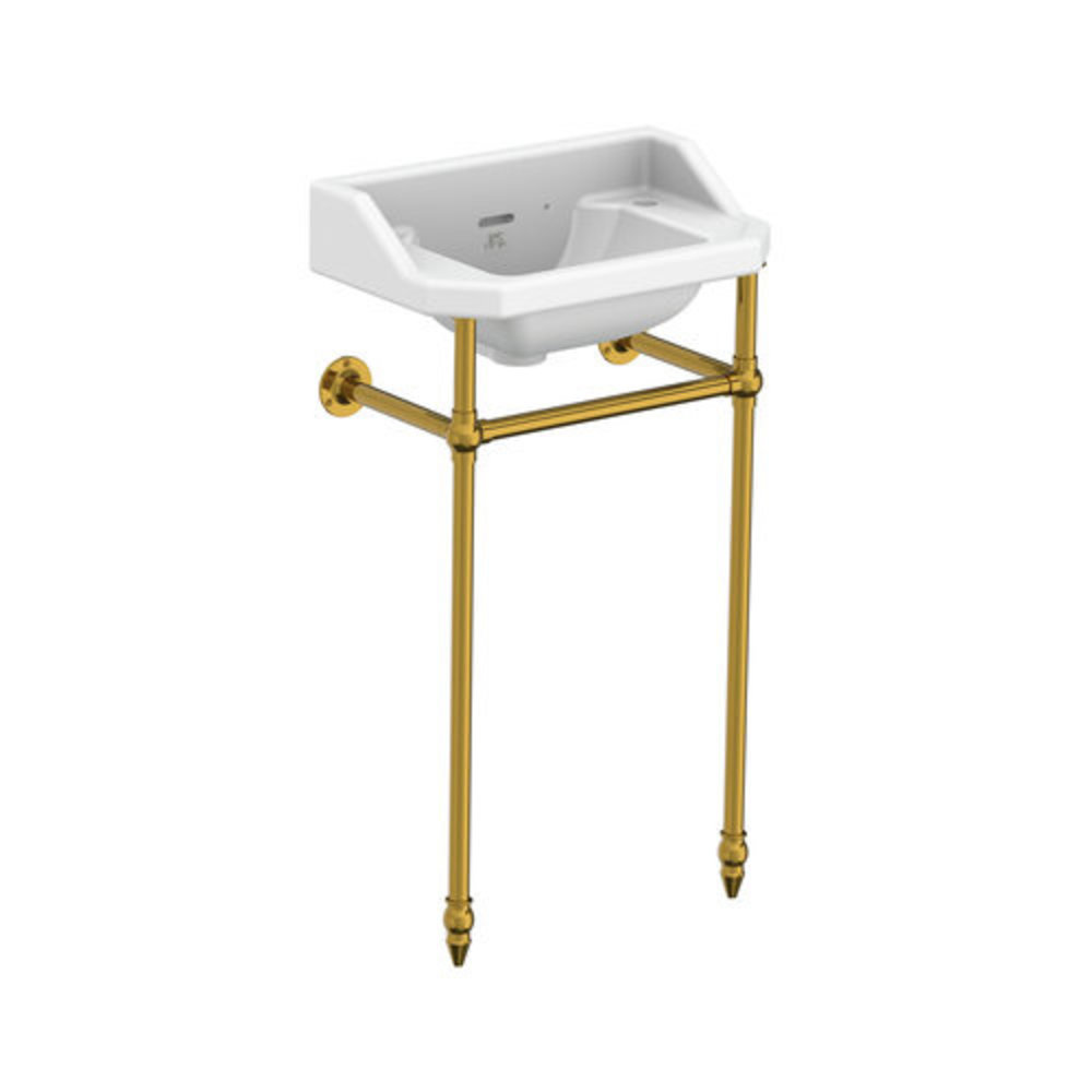 Lefroy Brooks 1900 Classic LB Classic cloakroom basin Charterhouse with metal stand