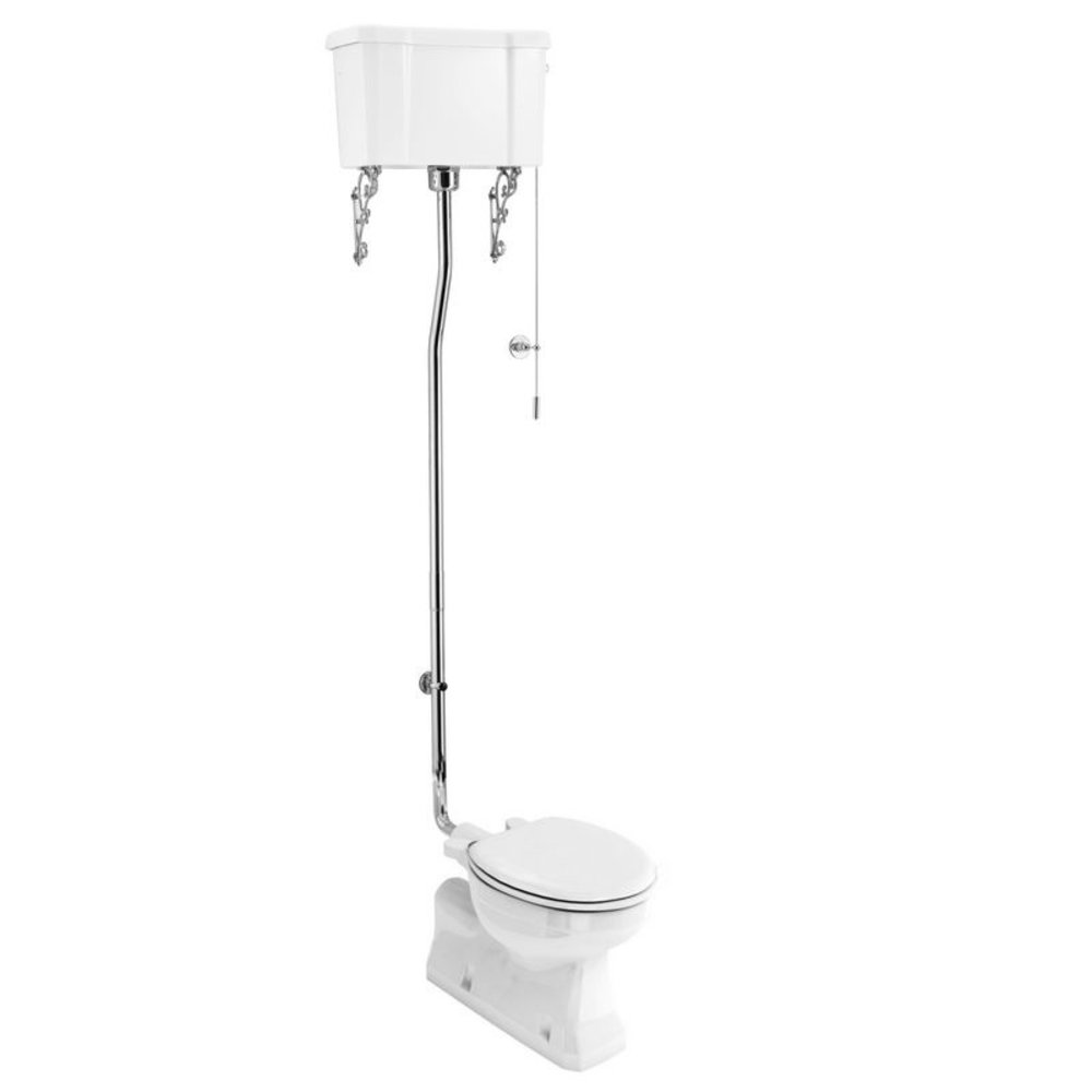 BB Edwardian High level toilet (s-trap) with porcelain cistern