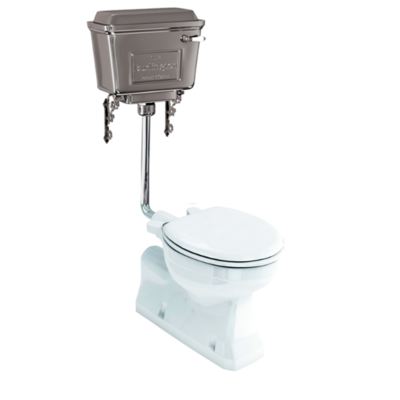 Low level WC with aluminium cistern  AO