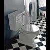 Sbordoni Neoclassica Duoblok toilet met porseleinen hendel