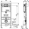 TCH TECE Dual Flush concealed cistern
