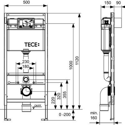 TECE Concealed cistern