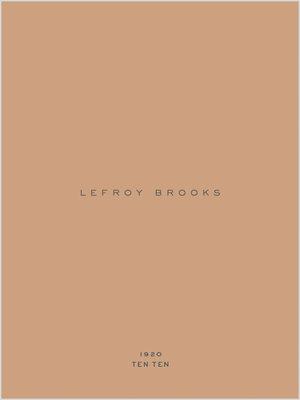 Lefroy Brooks 1920 TenTen
