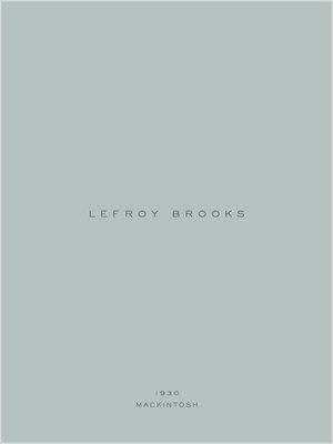 Lefroy Brooks 1930 Mackintosh