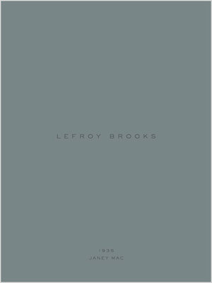 Lefroy Brooks 1935 Janey Mac