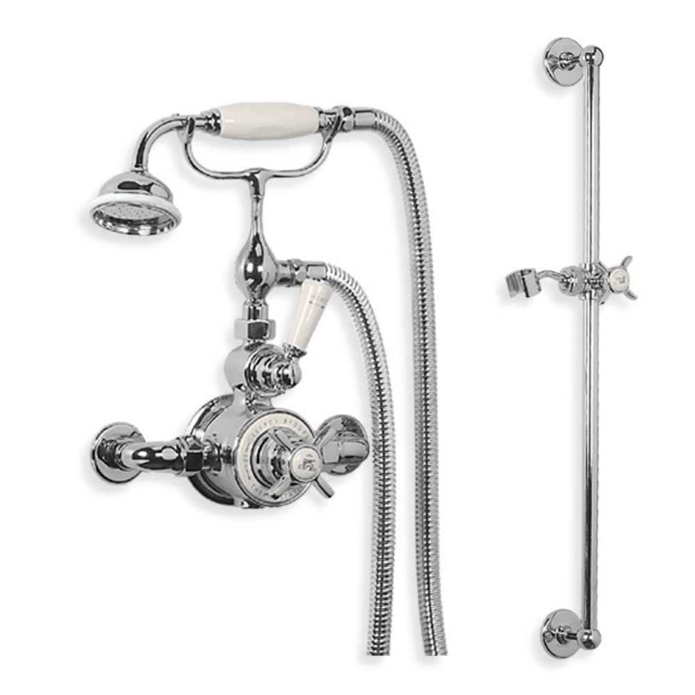 Lefroy Brooks 1900 Classic LB1900 Classic Godolphin exposed shower set with  hand shower GDE-8705
