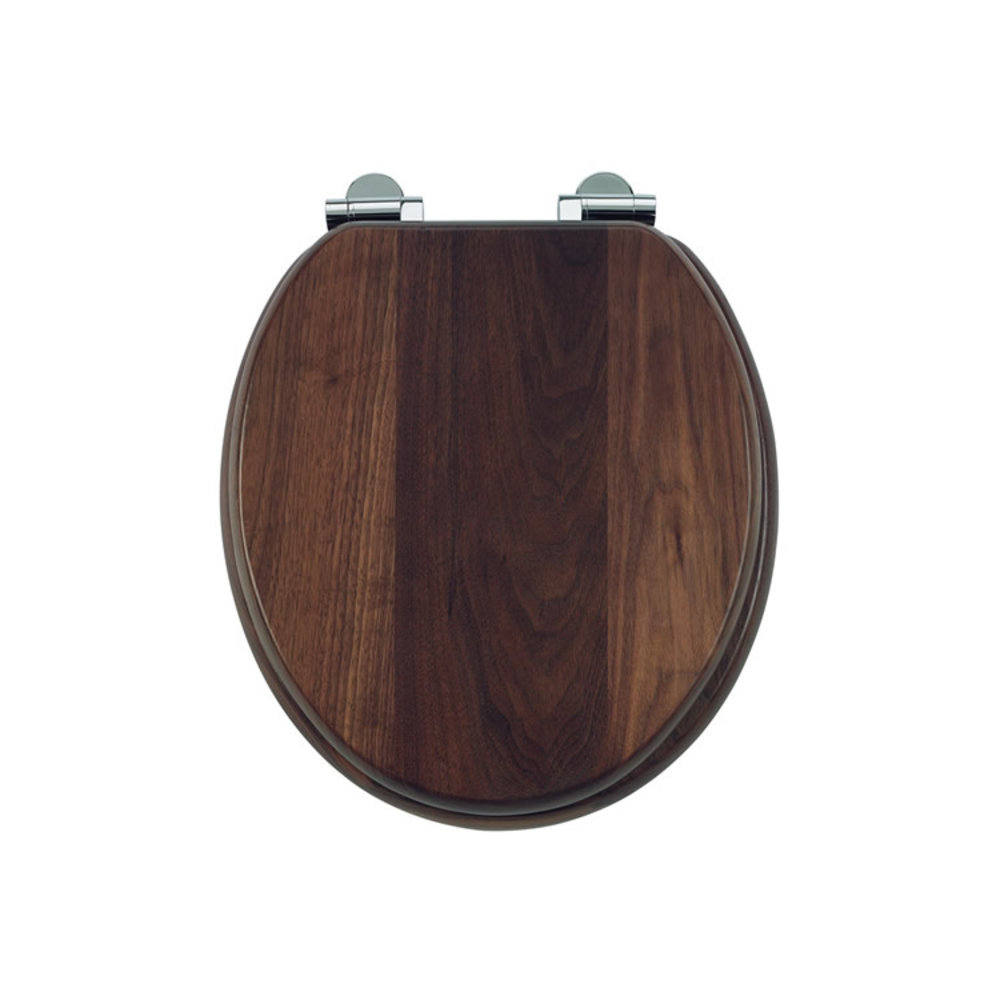 Burlington Soft close black walnut toilet seat
