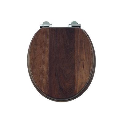 Walnut  toilet seat soft-close S47