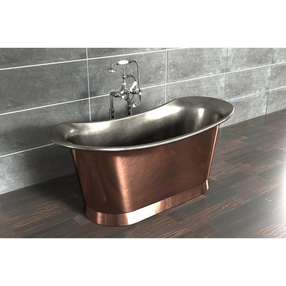 William Holland Freestanding copper bath Bateau, finish  copper/brushed nickel