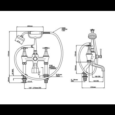 Deco bath shower mixer E.3101/1