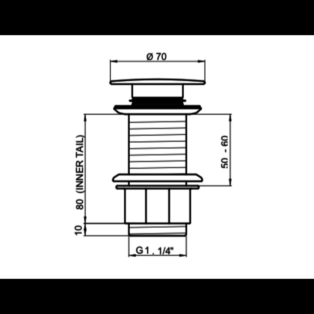 Perrin & Rowe P&R wastafel push-waste  6806