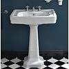 Sbordoni SB Neoclassica 69cm console basin with ceramic pedestal