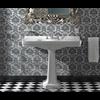 Sbordoni SB Neoclassica 105cm console basin with ceramic pedestal