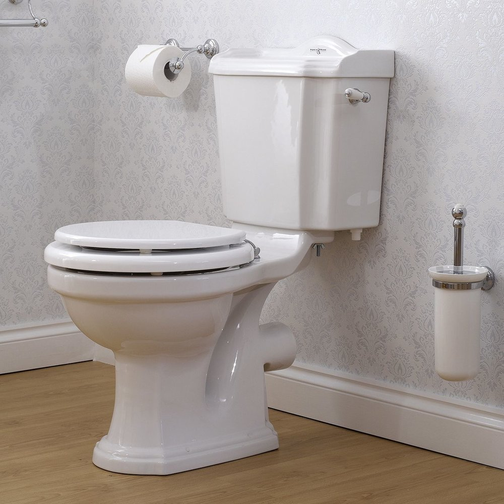 Perrin & Rowe Edwardian Edwardian Close coupled toilet with cistern & handle